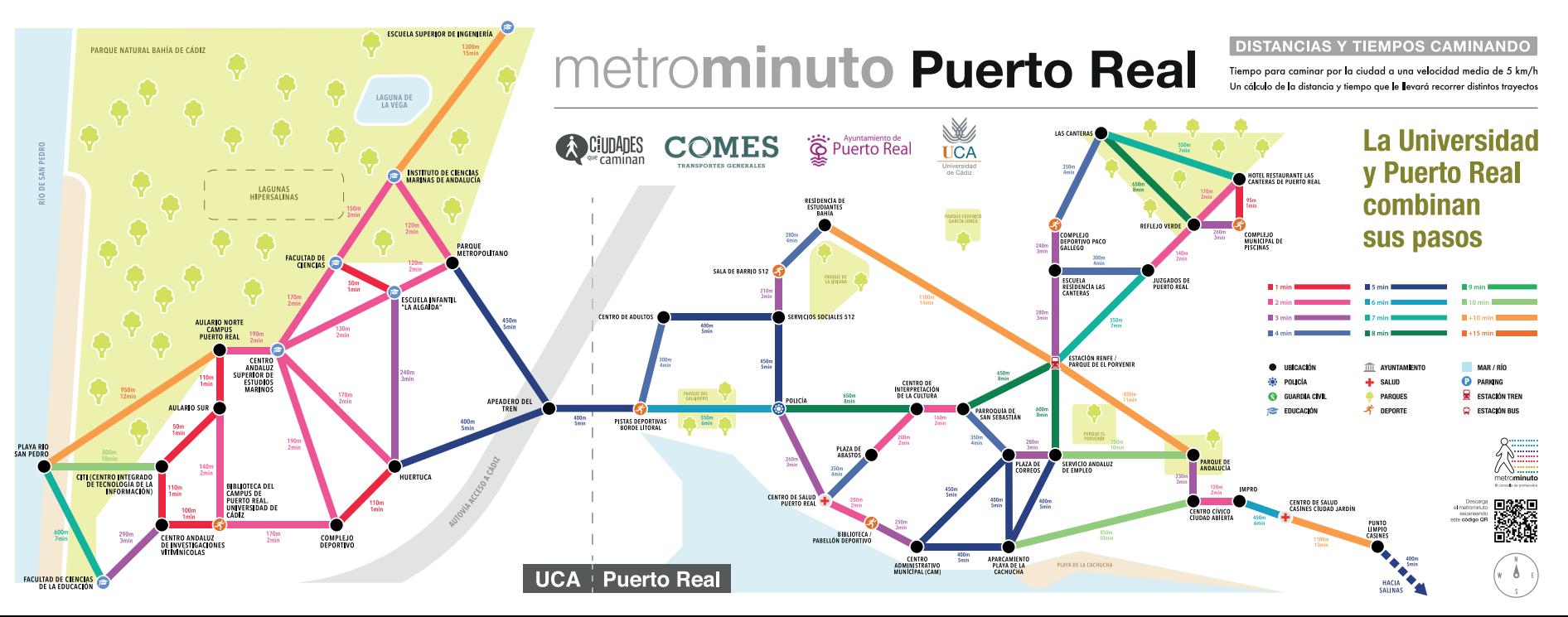 """Presentamos la Campaña de Sensibilización Metrominuto """"La Universidad y Puerto Real combinan sus pasos"""""""