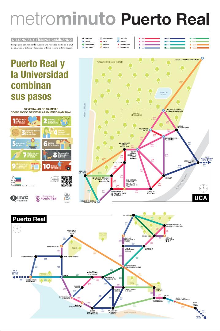 Súmate a Metrominuto y descubre Puerto Real  y su campus universitario caminando