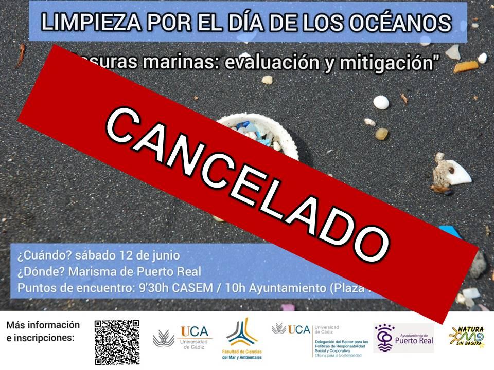 Se anula la jornada de evaluación y limpieza de basuras marinas en Puerto Real  prevista para el próximo 12 de junio
